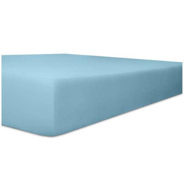 Kneer Vario-Stretch Spannbetttuch one für Topper 4-12 cm Höhe Qualität 22 Farbe blau