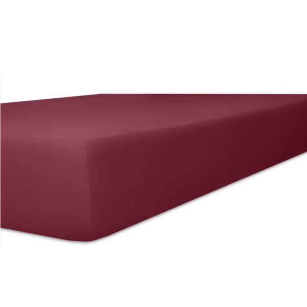 Kneer Vario Stretch Spannbetttuch Qualität 22 für Topper one burgund 200x200 cm