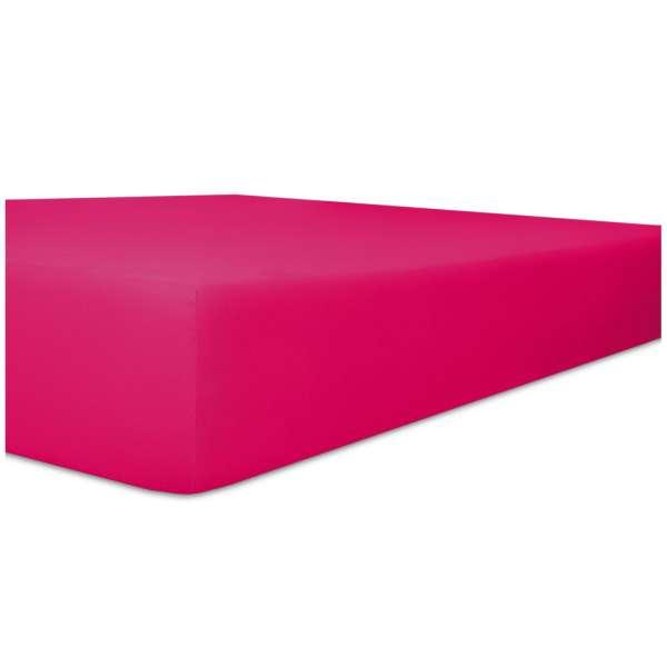 Kneer Fein-Jersey Spannbetttuch für Matratzen bis 22 cm Höhe Qualität 50 Farbe fuchsia