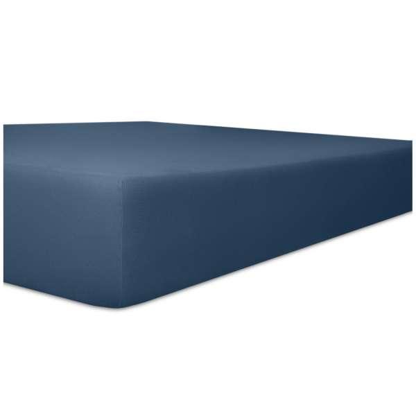 Kneer Superior-Stretch Spannbetttuch 2N1 mit 2 verschiedenen Liegeflächen Qualität 98 Farbe marine