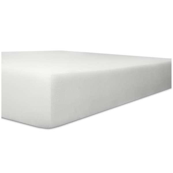 Kneer Nicky-Velour Spannbetttuch für Matratzen bis 22 cm Höhe Qualität 95 Farbe weiß