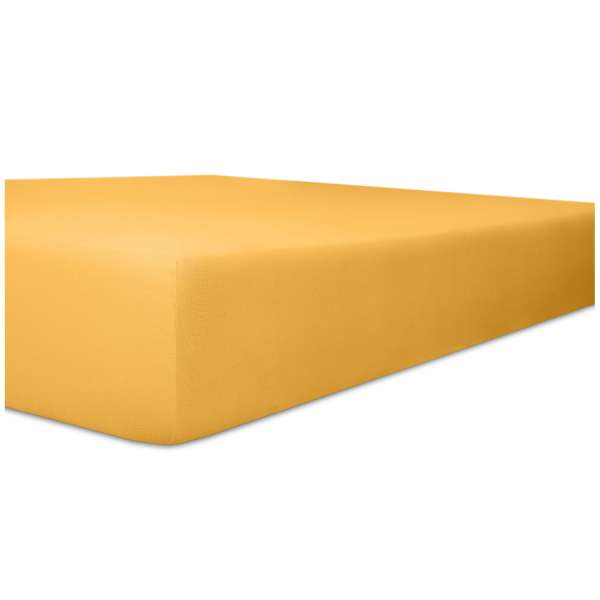 Kneer Easy Stretch Spannbetttuch für Matratzen bis 30 cm Höhe Qualität 25 Farbe gelb