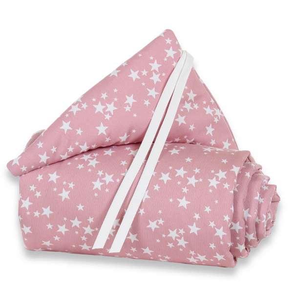 babybay Nestchen Piqué für Maxi, Boxspring und Comfort, beere Sterne weiß