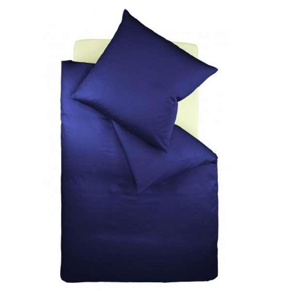 Fleuresse Interlock-Jersey-Bettwäsche colours dunkelblau 6061 Größe 155x200 cm