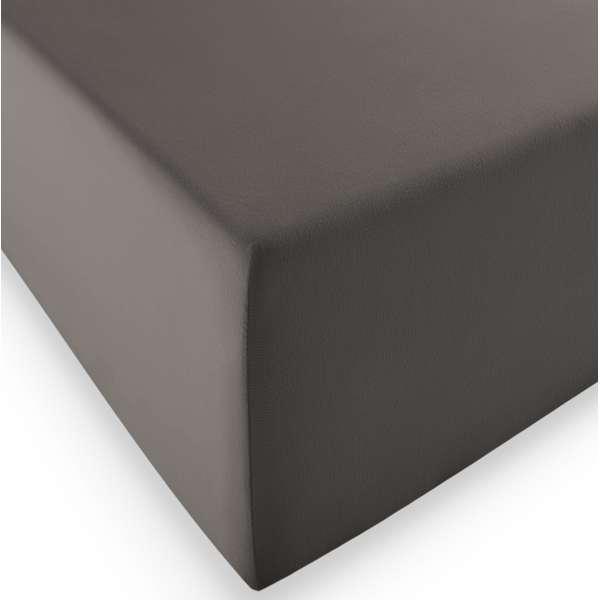 Fleuresse Boxspring- und Wasserbetten Jersey-Spannlaken comfort XL Farbe 8031 espresso