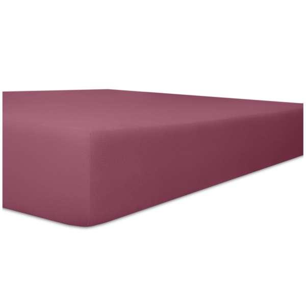 Kneer Easy Stretch Spannbetttuch für Matratzen bis 30 cm Höhe Qualität 25 Farbe brombeer