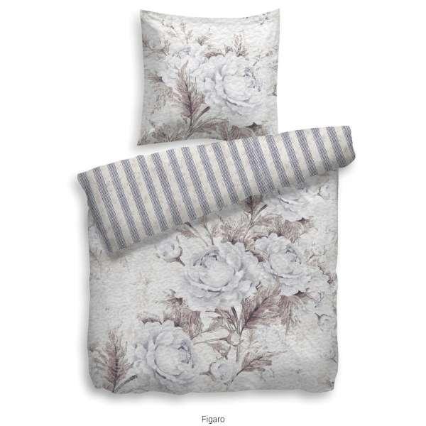 Heckett Lane Pure Cotton Bettwäsche Figaro 135x200 cm naturell