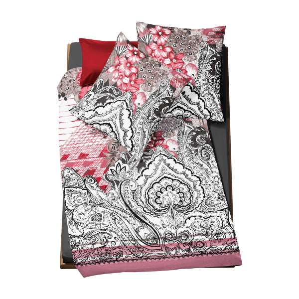 Fleuresse Mako-Satin-Bettwäsche Modern Classic Größe 135x200 cm