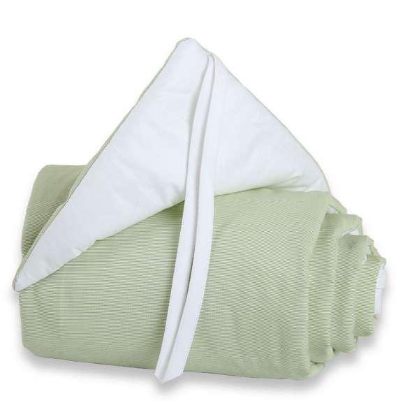 babybay Nestchen Cotton für Maxi, Boxspring und Comfort, grün/weiß