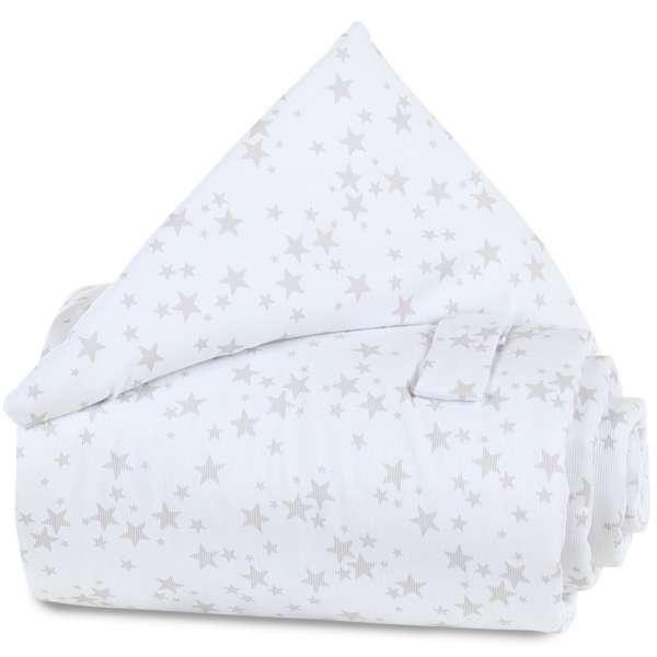 babybay Gitterschutz Piqué für Verschlussgitter, weiß Sterne perlgrau