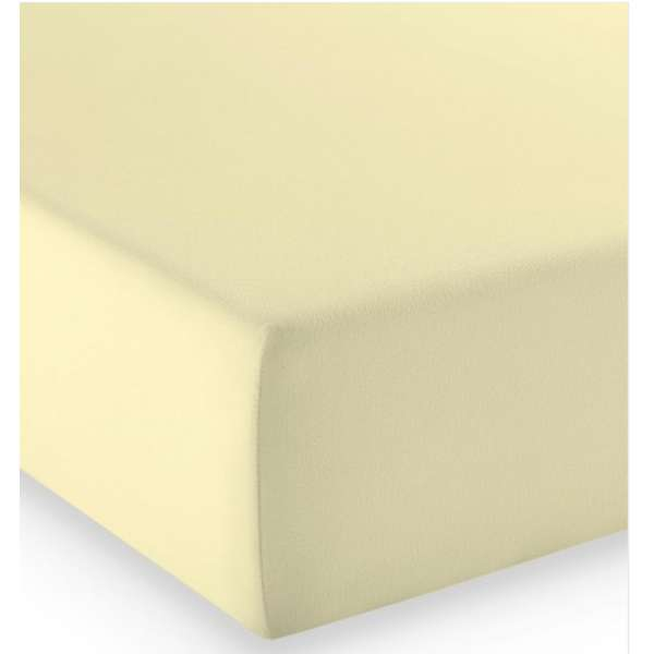 Fleuresse Mako-Jersey-Spannlaken comfort Farbe vanille 215