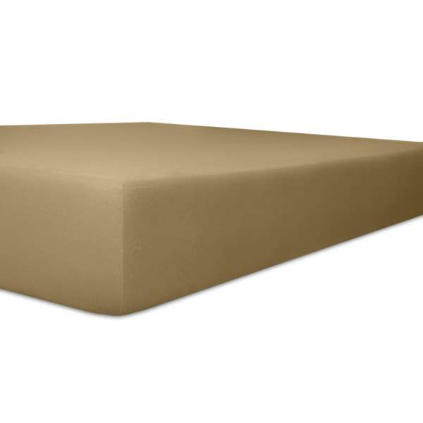 Kneer Vario Stretch Spannbetttuch Qualität 22 für Topper one toffee 220x220 cm