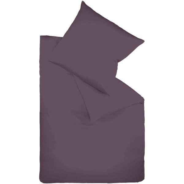 Fleuresse Mako-Satin-Bettwäsche colours lavendel 135x200 cm
