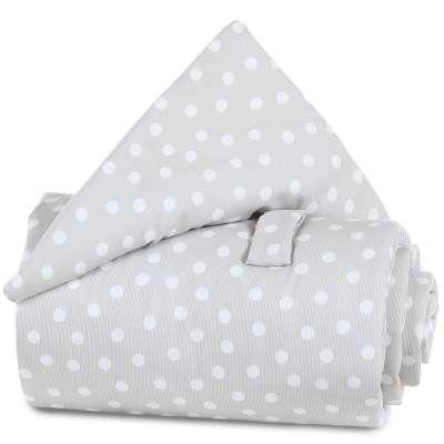 Tobi Babybay babybay Gitterschutz Piqué für Verschlussgitter, perlgrau Punkte weiß 000193520000