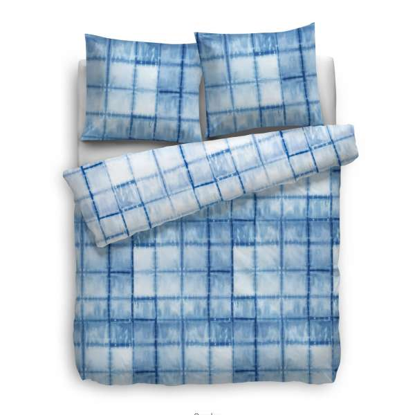 Heckett Lane Velvet Touch Wendebettwäsche Sandra 155x220 cm blau