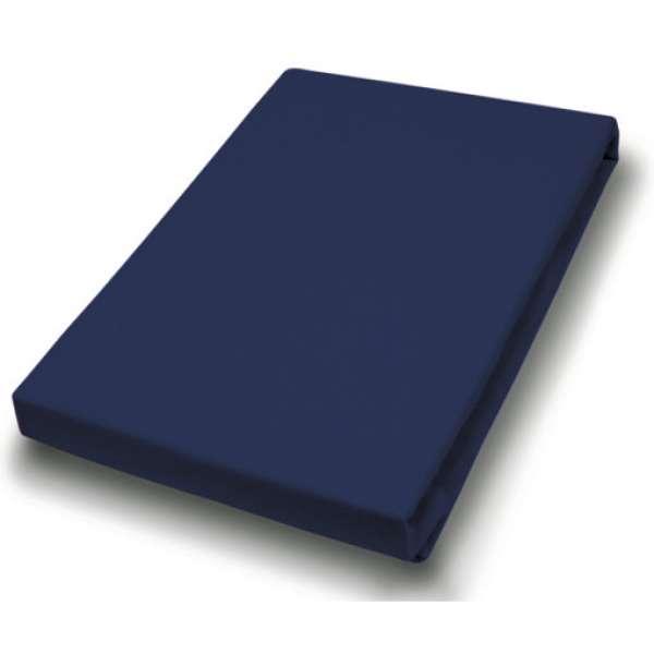 Hahn Haustextilien Jersey-Spannlaken Basic Größe 90-100x200 cm Farbe marine