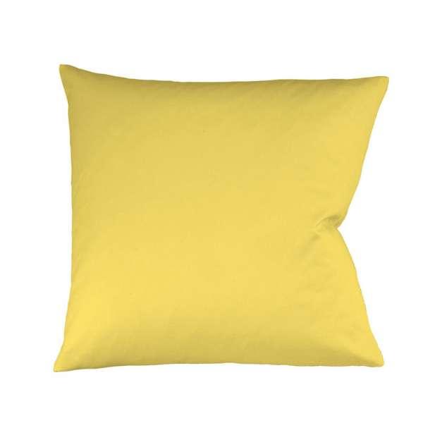 Fleuresse Mako-Satin-Kissenbezug uni colours gelb 2006 Größe 40x80 cm