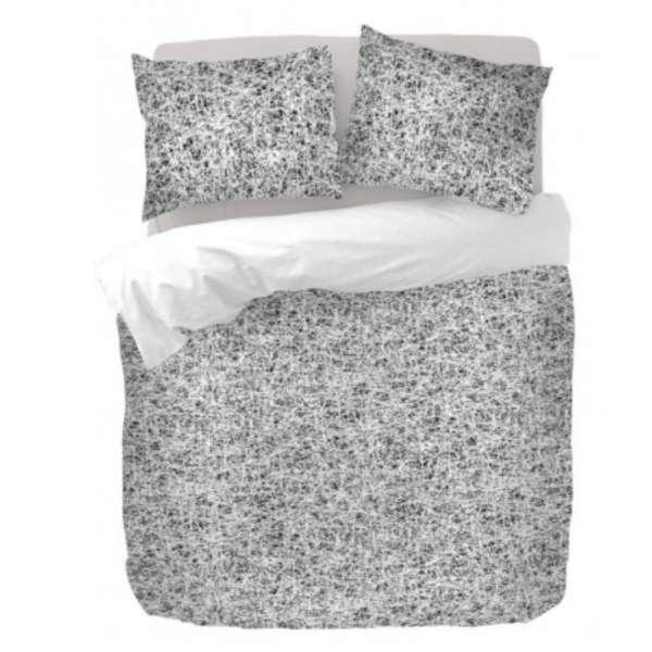 Kayori Baumwoll Satin Bettwäsche Kiayo Größe 135x200 cm Farbe silber