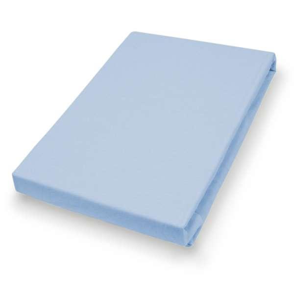 Hahn Haustextilien Jersey-Spannlaken Basic Größe 90-100x200 cm Farbe sky blue