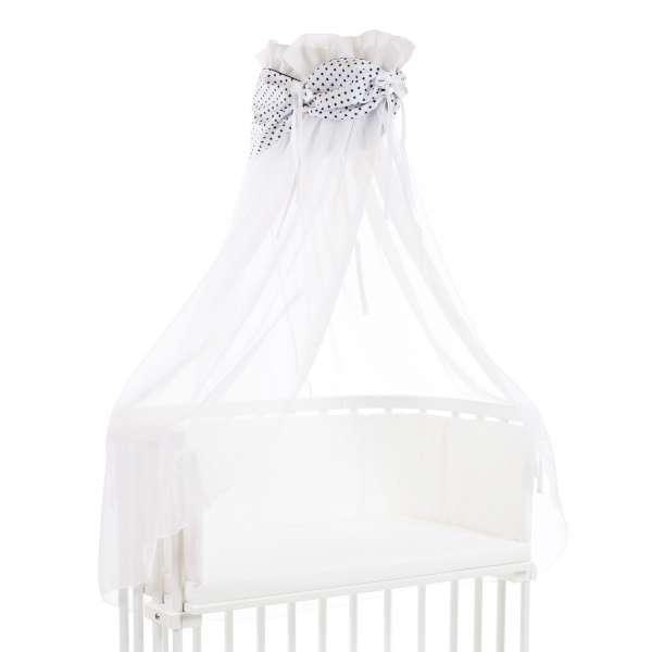 babybay Himmel Organic Cotton mit Schleife für alle Modelle, weiß Sterne blau