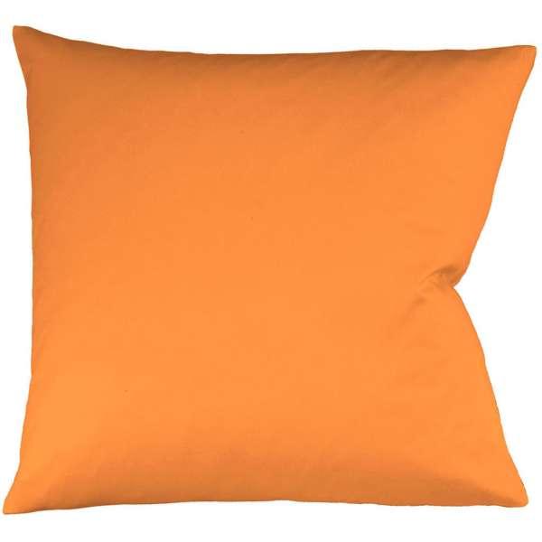 Fleuresse Interlock-Jersey-Kissenbezug uni colours orange 2044 Größe 40x40 cm