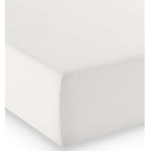 Fleuresse Mako-Jersey-Spannlaken comfort Farbe naturweiß 1109