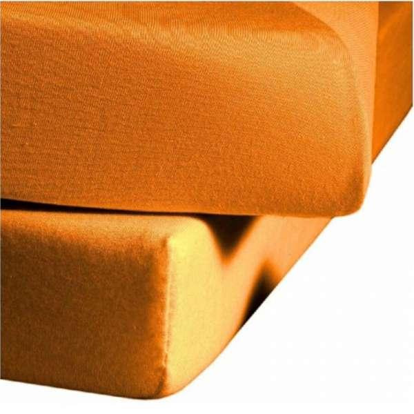 Fleuresse Mako-Jersey-Spannlaken Jenny C 20 44 orange 120x200 cm
