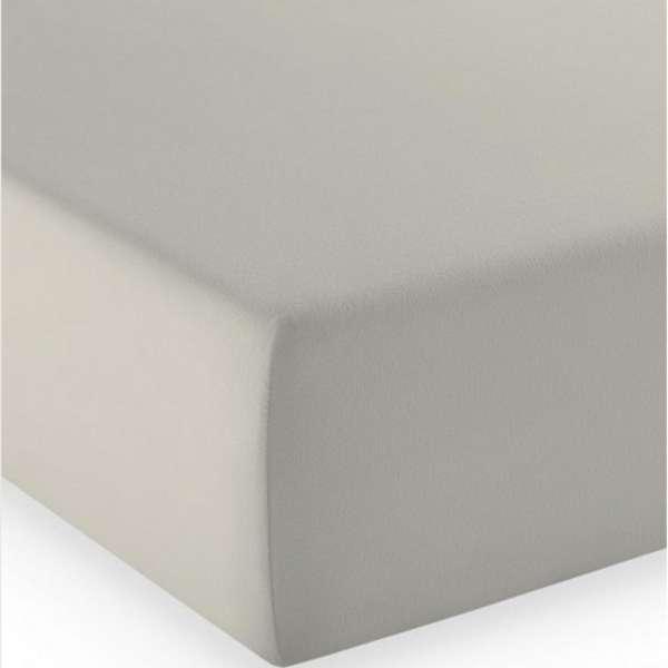 Fleuresse Mako-Jersey-Spannlaken comfort Farbe porzellan 9050