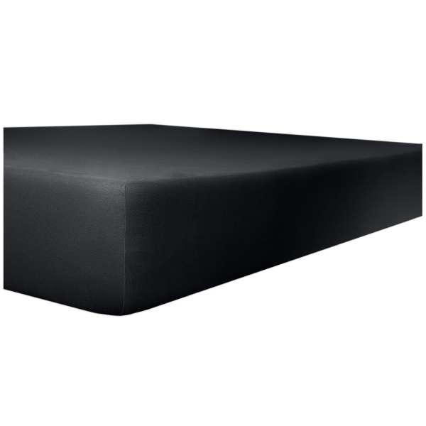 Kneer Edel-Zwirn-Jersey Spannbetttuch für Matratzen bis 22 cm Höhe Qualität 20 Farbe onyx