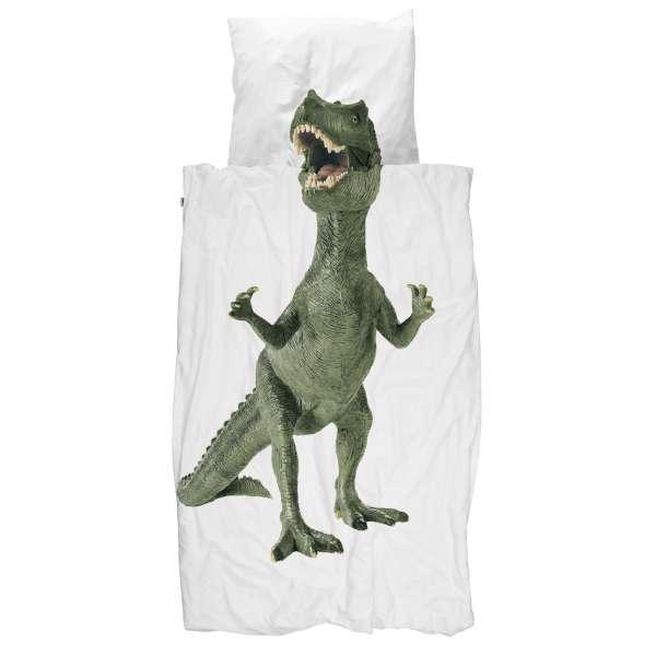 Snurk Bettwäsche Dinosaurier Größe 135x200/80x80 cm