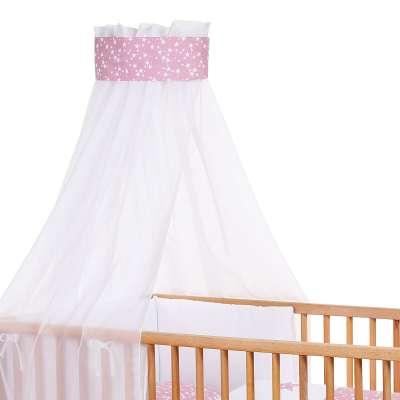 Tobi Babybay babybay Kinderbetthimmel Piqué mit Band, Applikation Stern beere Sterne weiß