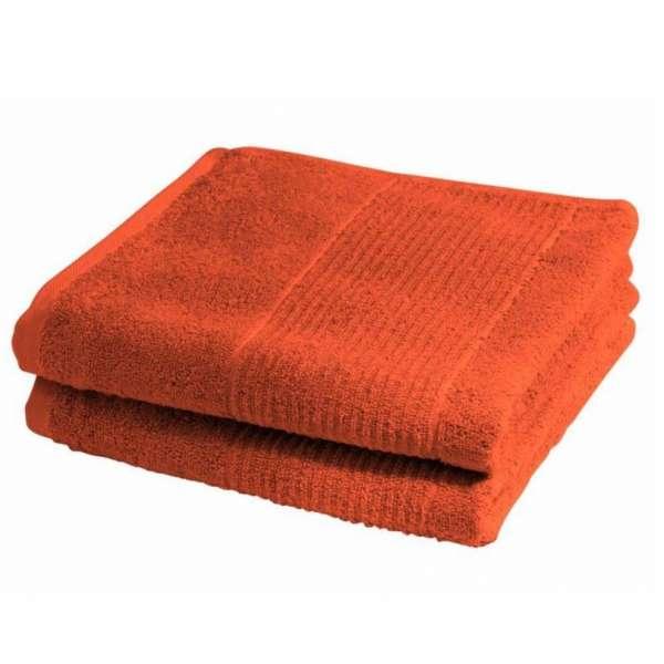 Fleuresse Frottier Handtuch 2-er Set Größe 50x100 cm, Farbe 13 rot orange