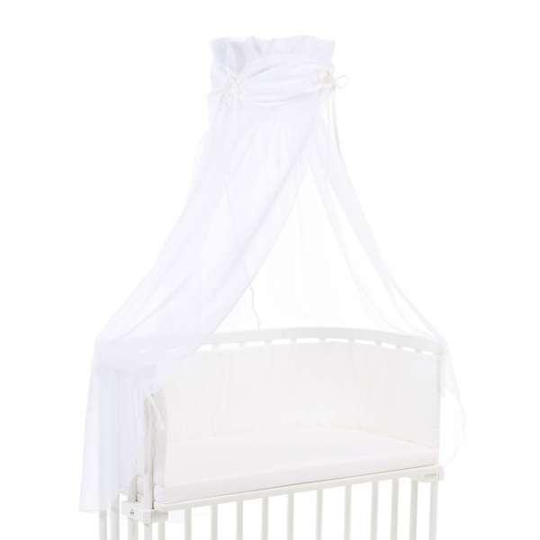 babybay Himmel Organic Cotton mit Schleife für alle Modelle, weiß