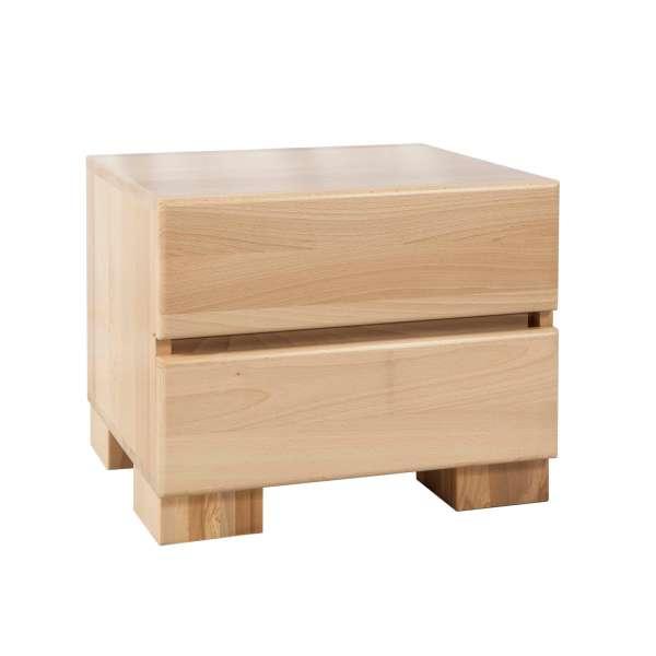 Bed Box Nachttisch Beistelltisch Massivholz Wildeiche