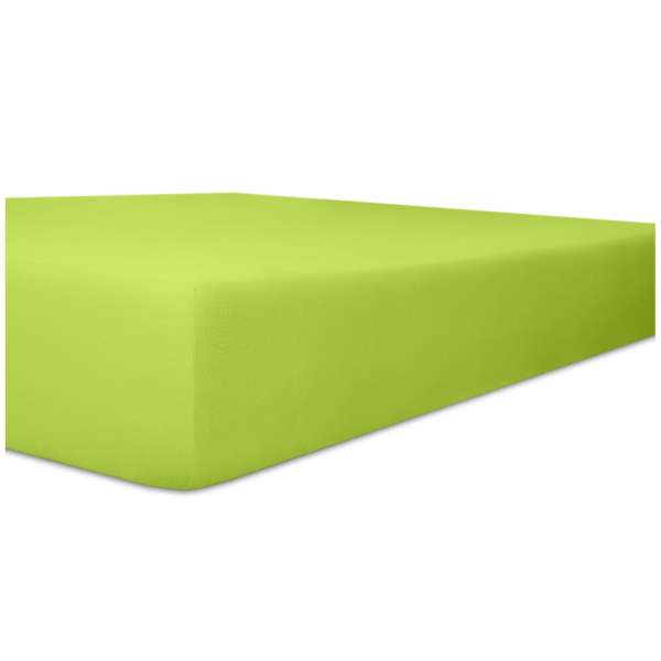 Kneer Superior-Stretch Spannbetttuch 2N1 mit 2 verschiedenen Liegeflächen Qualität 98 Farbe limone