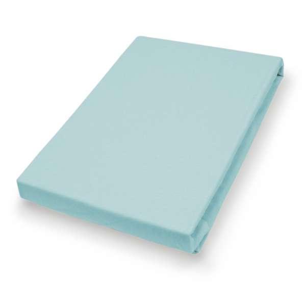 Hahn Haustextilien Jersey-Spannlaken Basic Größe 140-160x200 cm Farbe blue sky