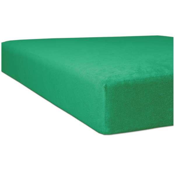 Kneer Flausch-Biber Spannbetttuch für Matratzen bis 22 cm Höhe Qualität 80 Farbe smaragd