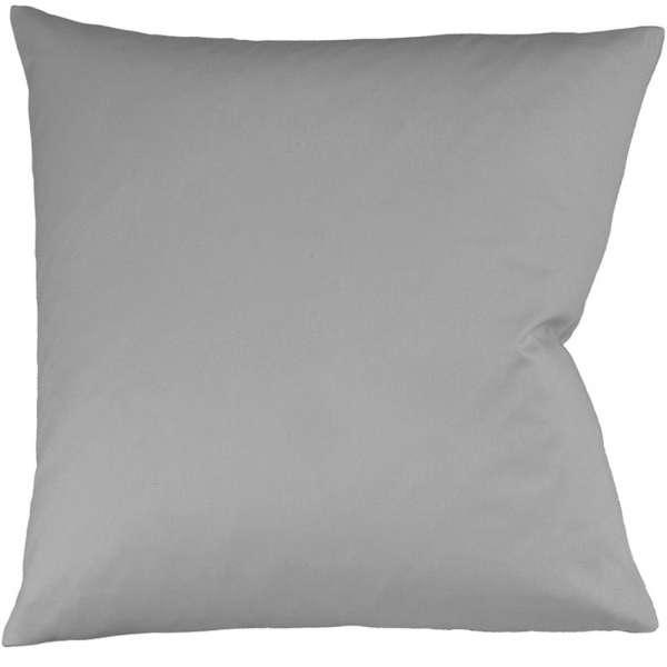 Fleuresse Interlock-Jersey-Kissenbezug uni colours grau 9021
