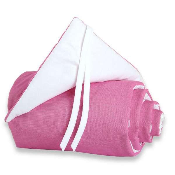 babybay Nestchen Cotton für Maxi, Boxspring und Comfort, pink/weiß