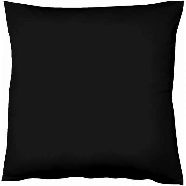 Fleuresse Mako-Satin-Kissenbezug uni colours schwarz 941