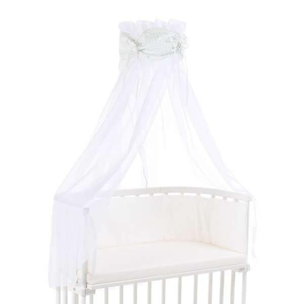 babybay Himmel Organic Cotton mit Schleife für alle Modelle, weiß Glitzersterne mint
