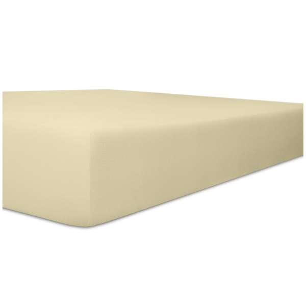 Kneer Edel-Zwirn-Jersey Spannbetttuch für Matratzen bis 22 cm Höhe Qualität 20 Farbe ecru