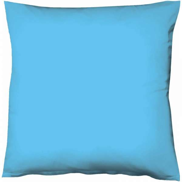 Fleuresse Mako-Satin-Kissenbezug uni colours meeresblau 6072