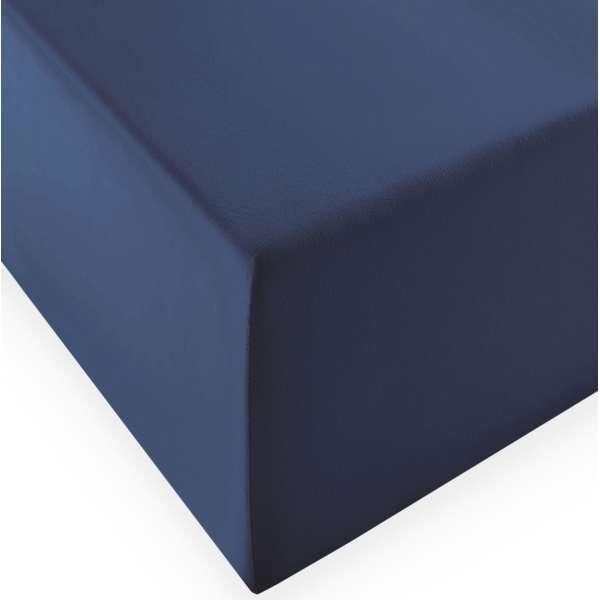 Fleuresse Boxspring- und Wasserbetten Jersey-Spannlaken comfort XL Farbe 6073 denim