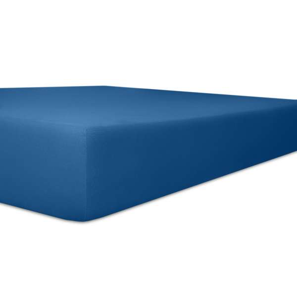 Kneer Vario Stretch Spannbetttuch Qualität 22 für Topper one kobalt 220x220 cm