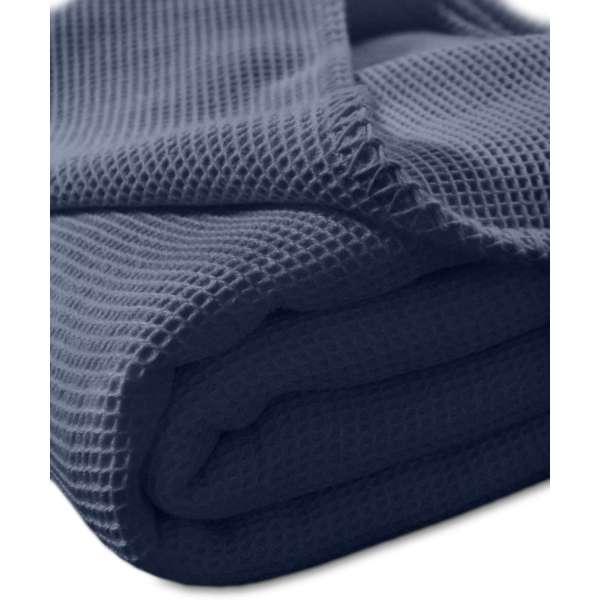 Kneer la Diva Pique Decke Qualität 91 Farbe marine Größe 240x220 cm Kuscheldecke