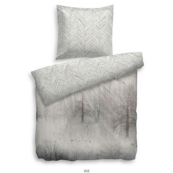 Heckett Lane Pure Cotton Bettwäsche Will 135x200 cm grau
