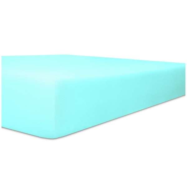 Kneer Fein-Jersey Spannbetttuch für Matratzen bis 22 cm Höhe Qualität 50 Farbe aqua