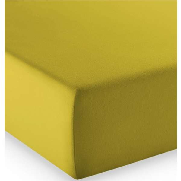 Fleuresse Mako-Jersey-Spannlaken comfort Farbe oliv 7049