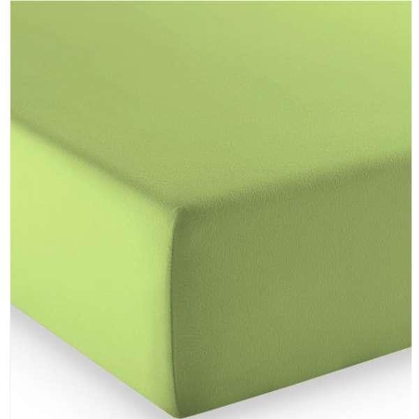 Fleuresse Mako-Jersey-Spannlaken comfort Farbe apfelgrün 7041